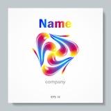 Abstract VectorEmbleem Het Malplaatje van het elementenontwerp Creatief symbool Stock Afbeelding