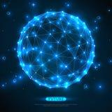 Abstract vectorgebied Futuristische Technologie Stock Afbeeldingen