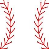 Abstract vectorhonkbalbeeld met rode steken royalty-vrije illustratie