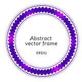Abstract vectorial round frame with geometric elements and place for text. stock illustration
