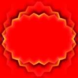 Abstract vectorkader met rode bladeren Royalty-vrije Stock Afbeeldingen