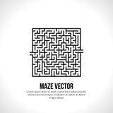 Abstract vectorlabyrintembleem Het concept van het embleempictogram Stock Afbeeldingen