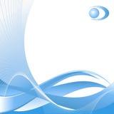 Abstract vectormalplaatje met embleem Stock Foto's