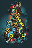 Abstract vectorontwerp stock illustratie
