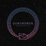 Abstract Vectorouroboros-Slangsymbool, Teken of a Stock Foto