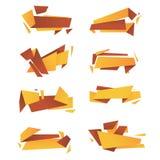 Abstract vectorpak moderne kleurrijke banners Stock Fotografie