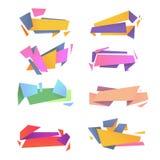 Abstract vectorpak moderne kleurrijke banners Stock Foto