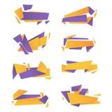 Abstract vectorpak moderne kleurrijke banners Royalty-vrije Stock Foto's