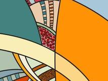 Abstract vectorpatroon, zwart-witte krabbels Achtergrond voor affiche, prentbriefkaar, achtergrond Illustratie met abstracte vorm royalty-vrije illustratie