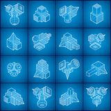 Abstract vectors, 3D shapes set. Abstraction, special artistic shape royalty free illustration