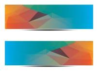 Abstract veelhoekig Bannerontwerp Stock Foto