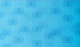 Abstract veelhoekmalplaatje, blauwe kleur met gradiënt, vector Royalty-vrije Stock Afbeelding
