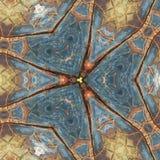 Abstract veelkleurig cijfer met patronen. Royalty-vrije Stock Afbeeldingen