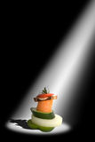 Abstract vegetables concept. In a spotlight Stock Image