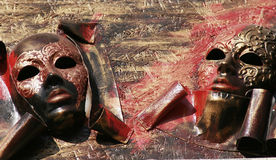 Abstract venetian masks Stock Photography