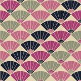 Abstract ventilatorpatroon Gebaseerd op Traditioneel Japans Borduurwerk vector illustratie