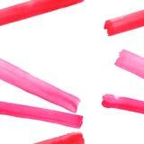 Abstract verfijnd prachtig schitterend elegant grafisch mooi rood roze karmozijnrood magenta diagonaal lijnenkader Royalty-vrije Stock Afbeeldingen