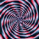 Abstract verlichtings roterend voorwerp van concentrische spiralen die aan één punt samenkomen vector illustratie