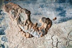 Abstract versleten cement en pleister als achtergrond Ruïneconcept Royalty-vrije Stock Afbeelding