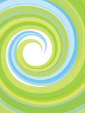 Abstract vertical background. Image with swirl in green and blue Royalty Free Stock Images