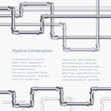 Abstract vertical background with flat designed pipeline. Abstract horizontal background with flat designed pipeline. Concept for web newsletters water Stock Photo