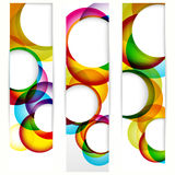 Abstract vertical banner. With forms of empty frames for your www design