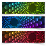 Abstract vertical banner with forms of empty Stock Images