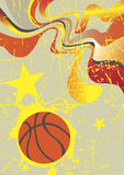 Abstract vertical basketball banner with yellow stars Stock Photos