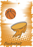 Abstract vertical basketball poster.Orange background Royalty Free Stock Image