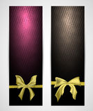Abstract vertical celebration banners Royalty Free Stock Photos