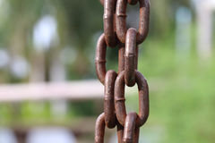 Abstract Vertical chain strength. Royalty Free Stock Image