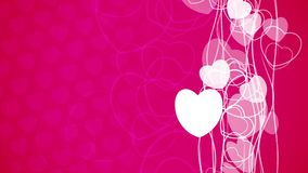 Abstract vertical flow heart particles animation vector illustration