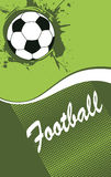 Abstract vertical football banner. Vector illustration Stock Images