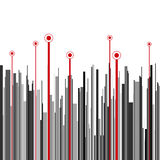Abstract vertical infographics gray, black and red Stock Photo