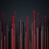 Abstract vertical infographics gray, black and red Stock Photos