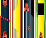 Abstract Vertical Web Banners. Set of colourful abstract vertical web banners with a futuristic feel stock illustration
