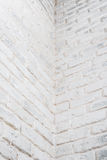 Abstract vertical white background. The corner of the brick wall. Stock Image