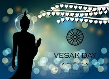 Abstract of Vesak Day. The Meditation Day of The World. Vector and Illustration, EPS 10 Stock Photography
