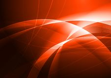 Abstract vibrant background. Red abstraction with beautiful waves - eps 10 Royalty Free Illustration