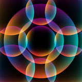 Abstract vibrant background with circles. Colorful theme Stock Photos