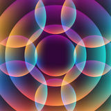 Abstract vibrant background with circles. Colorful theme Royalty Free Stock Photos