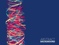 Abstract vibrant color column. Vector design Royalty Free Stock Photos