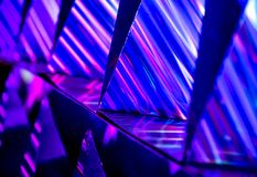 Abstract vibrant color light and refection stock photography