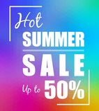Abstract vibrant colors low poly background and web banner of summer sale royalty free illustration