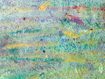 Abstract Vibrant Colors Painted Wall Surface Stock Image
