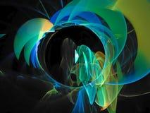 Abstract vibrant digital sparkles dynamic invitation fantasy cybernetic design texture futuristic fractal pattern. Abstract fractal digital background vibrant royalty free illustration