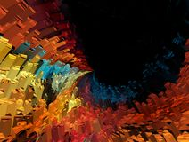 Abstract vibrant  illustrtion background Royalty Free Stock Image