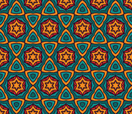 Abstract vibrant seamless pattern. Festive Colorful seamless pattern ornamental. Geometric print Stock Photography