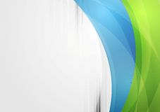 Abstract vibrant tech waves background Stock Image