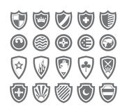 Abstract victorian arms. On shields Royalty Free Stock Photos